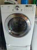 Lg Tromm Gas Operated Dryer And Pedestal Drawer Color White