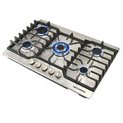 Metawell 30 5 Burners Built In Gas Cooktop Lpg Ng Gas Stainless Steel