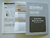 Sears Kenmore Electric Built In Oven 1990s Owner S Manual