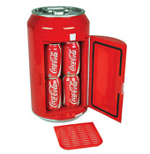 Coca Cola Mini Fridge Holds 8 Cans Portable 12v Car Boat Camper Dorm Room Cooler