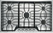 Frigidaire 36 Stainless Steel 5 Sealed Burner Cast Iron Gas Cooktop Ffgc3626ss