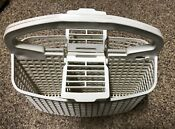 9743574 Whirlpool Dishwasher Silverware Utensil Basket W Flip Up Lid Both Sides