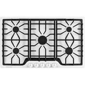 Frigidaire Gallery 36 White Gas Cooktop 5 Sealed Burners Fggc3645qw
