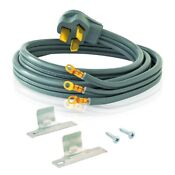 New Electric Range Stove Cord 3 Prong 4 Ft 50 Amp Ul Listed Free Shipping