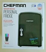 Chefman Mini Portable Eraser Board Personal Fridge Cools Heats 4 Liter Capacity