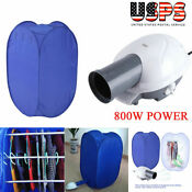 800w Electric Clothes Dryer Portable Wardrobe Machine Drying Camping Home Heater