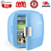 Mini Fridge 9 Liter 12 Can Ac Dc Portable Thermoelectric Cooler And Warmer Blue