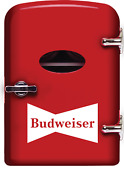Budweiser Portable 6 Can Mini Fridge Mis135bud Red