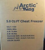 Arctic King 5 Cu Ft Deep Chest Freezer Texarkana New Boston Local Pick Up Only