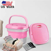 Mini Washing Machine Foldable Bucket Type Laundry Clothes Washer Cleaner Travel