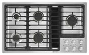 Excellent Condition Jennair 36 5 Burner Gas Cooktop W Downdraft Ventilation