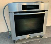 30 Stainless Miele Single Wall Oven Model H4880 Good Condition Used