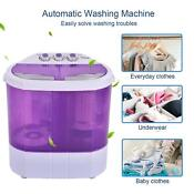 Portable Washing Machine Compact Lightweight 10lbs Washer W Spin Cycle Dryer