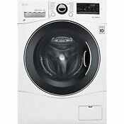 Lg Wm3488hw 24 Washer Dryer Combo With 2 3 Cu Ft Capacity Stainless Steel