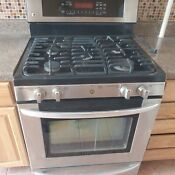 Used Lg 5 Burner Stainless Steel Gas Oven And Over Range Microwave 30 1300