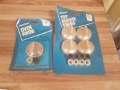Vintage Nos Robertshaw Top Burner Oven Knobs Gas Ranges Stove Tan Beige