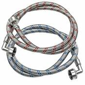 Beaquicy Washing Machine Hoses With 90 Degree Elbows Stainless Steel Washer