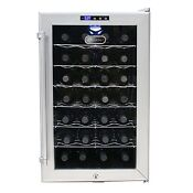 Whynter Sno 28 Bottle Thermoelectric Wine Cooler Platinum With Lock Wc28s