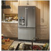 Ge Cafe Series 22 2 Cubic Foot Counter Depth French Door Refrigerator