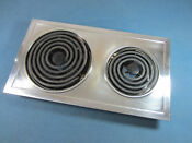Jenn Air Designer Cooktop Stainless Electric Element Cartridge W New Drip Pans