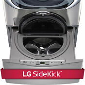 Lg Wd100cv 1 0 Cubic Foot Sidekick Pedestal Washer Lg Twin Wash Compatible In