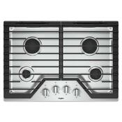 Whirlpool 30 Gas Cooktop 4 Burners And Ez 2 Lift Cast Iron Grates Wcg55us0hs