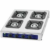Heavy Duty 4 Burner Propane Gas Stove Outdoor Cooking Butane