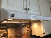 Kenmore Elite 55022 30 Updraft Range Hood With 3 Setting Halogen White Color