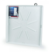 Camco 20762 30 Od X 28 Washing Machine Drain Pan For Stackable Units W Pvc Fitt
