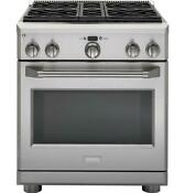 Monogram Zgp304nrss 30 Inch Pro Style All Gas Range With 5 7cu Ft Oven Capacity