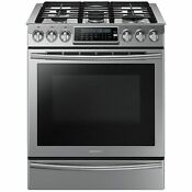 Samsung Stainless 30 Gas Slide In Range Convection Nx58h9500ws New