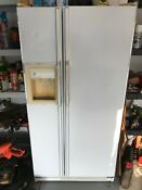 Ge 25 4 Cu Ft Side By Side Refrigerator With Single Ice Maker White
