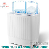 Portable Mini Washing Machine Compact Twin Tub 17 6lb Washer With Wash