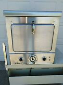 Vintage Chambers Stainless Steel Oven Built In Wall Or Countertop Mid Century