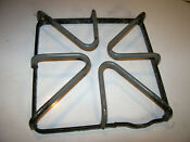 Ge Hotpoint Gas Range Square Grate Stove Oven Top Burner Gray Rusty Ships Free