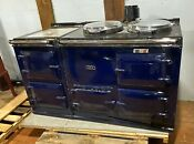 58 Blue Enamel Aga Gas Stove Home Or Professional Kitchen 2 Burners