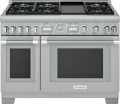 Thermador Prg486wdg 48 Pro Grand Commercial Depth Stainless Steel Gas Range
