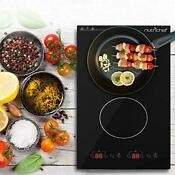 Dual 120v Electric Induction Cooker 1800w Portable Digital Dark Gray