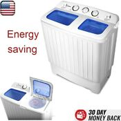 Mini Compact Portable Washing Machine Twin Tub Washer Dryer Energy Saving 11 Lbs