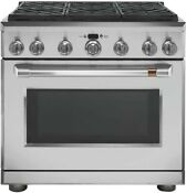 Ge Cafe Cgy366p2ms1 36 Freestanding Professional Gas Range With Convection