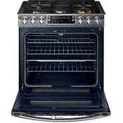 Samsung Nx58k9850sg 30 Flex Duo Slide In Double Oven Gas Range W Self Cleaning