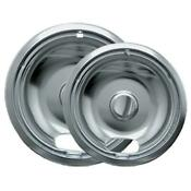 Range Kleen 12782xcd5 Chrome Drip Pans Plug In Ranges Fits Most Amana Cros
