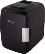 Cooluli Classic Black 4 Liter Compact Cooler Warmer Mini Fridge With Ac Dc Usb P