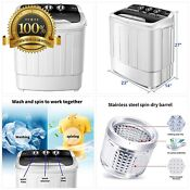 Portable Washing Machine Safeplus Compact Mini Twin Tub Versatile Washer And Spi