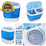 Super Deal Portable Compact Washing Machine Mini Twin Tub Washing Machine W Was