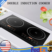 Electric Dual Induction Cooker Cooktop Stove Countertop Burner Fit For Iron Pan