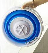 Portable Mini Turbo Washing Machine With Foldable Tub Compact Ultrasonic