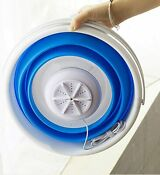 Portable Mini Turbo Washing Machine With Foldable Tub Compact Ultrasonic Travel
