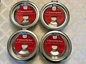 Lot Of 4 Nwt 6 Smart Choice Chrome Drip Bowls Red Label Pic Has Range Types