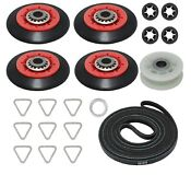 Dryer Repair Kit For Whirlpool Duet Gew9250pw1 Wed9400sw2 Belt Rollers Pulley